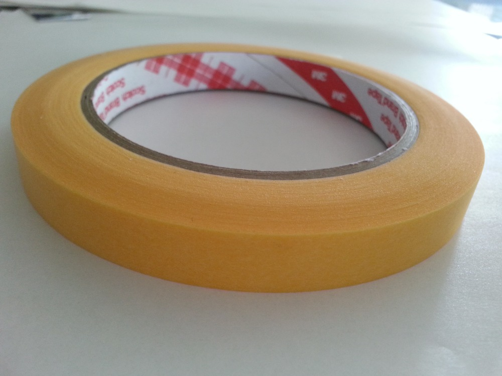 18mmX50M washi tape for high temperature paint masking 3M 244/3M masking tape 244/ 3M high temperature masking tape triangle masking tape