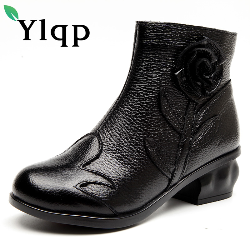 Ylqp 2017 Female Warm Boots Ladies Genuine Leather Winter Shoes for Women Handmade Short Plush Ankle Boots Woman Sapato Feminino eric singer t trade the congressional effect how to profit from congress s impact on the stock market