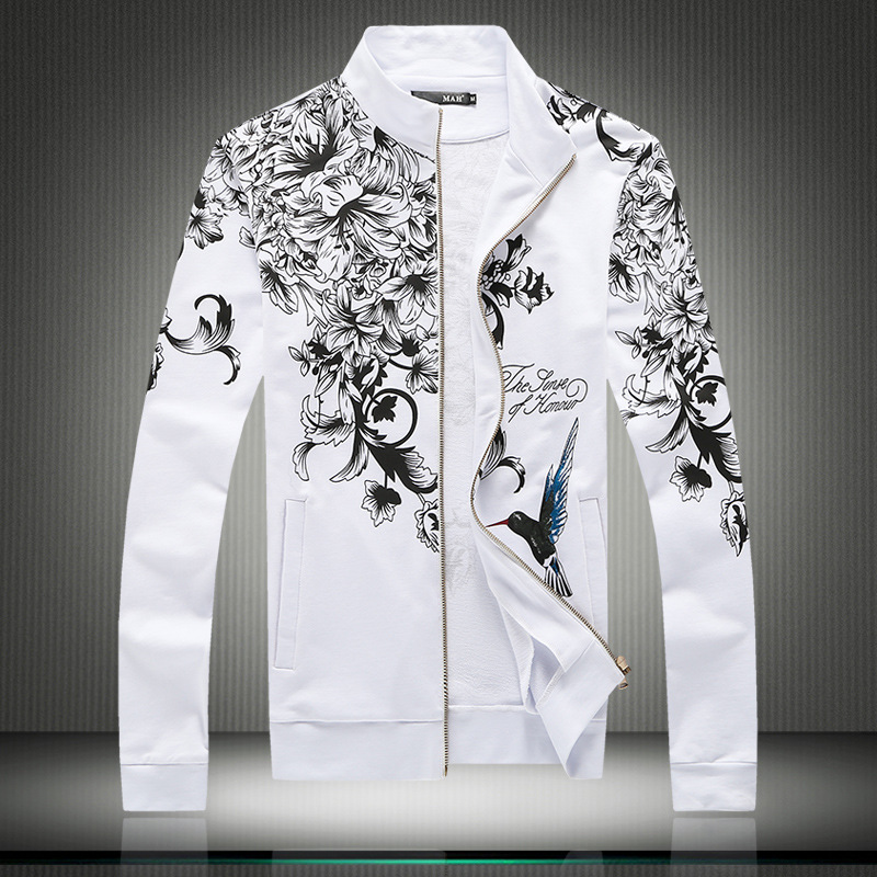M-5XL!!! Jacket For Men Mens Spring Style Coat Mens Fashion Men Bomber Jacket Leisure Large Size China Printed Cardigan Coat