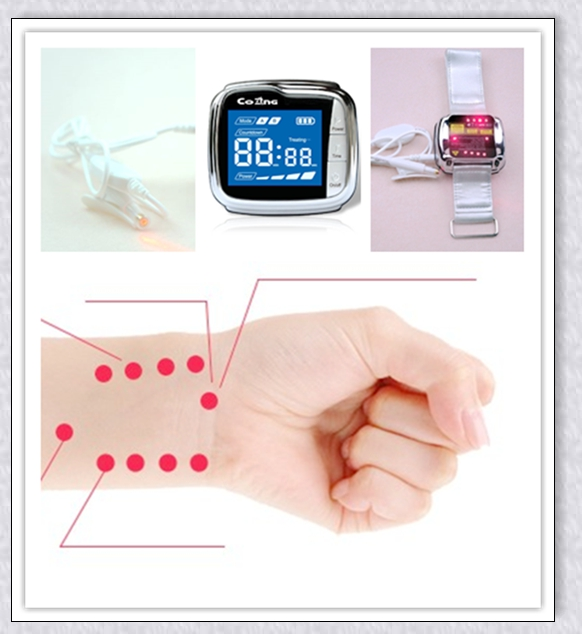 Treat anemia/high blood pressure /rhinitis cold laser watch home use machine latest invention daily home use reducing high blood pressure low level laser therapy watch