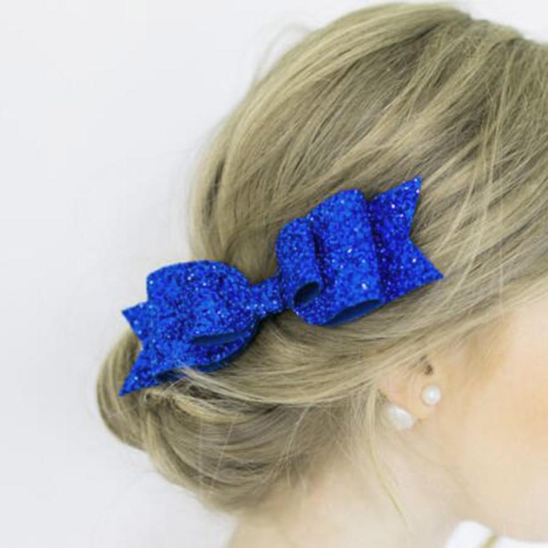 Fashion New Hair Accessories Girls Bow Barrettes Cute Hair Clips Girls Big Glitter Hair Bow Kids Hairpins Hair Clip For Children in Women 39 s Hair Accessories from Apparel Accessories