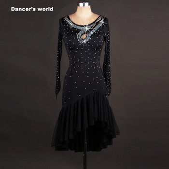 Latin dance tassel dres Women latin dance clothes girls latin dance perforamce dress lady latin dance spandex stones dress S-4XL