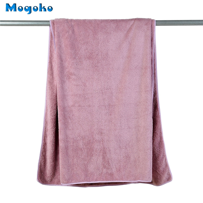 Mogoko 2017 Brand New 1pc Super Absorbent Quick Drying Coral Fleece Pet Dog Puppy Wash Towel Have 2 Colors Optional