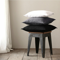 EHOMEBUY New Arrival Cushion Solid Color Feather Cushion Core Home Hotel Sofa Decorations Square Soft Cushions Modern Pillow