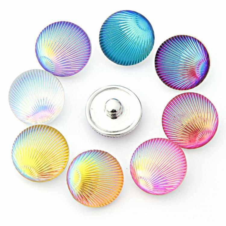Nueva resina broche de joyería 18mm bricolaje botones a presión botones para mujeres TZ5021