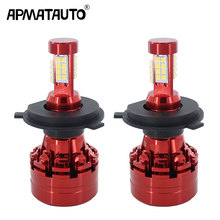 1set 4 Side 80W  H4 Hi lo Car LED Headlight Bulb Auto Headlamp 12v 24v for Toyota Sequoia Sienna Solara Tacoma Tundra black curved end side step nerf bar for 2005 2017 toyota tacoma double cab 3 running boards car pedals accessories auto parts