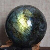 500 560g NATURAL Labradorite quartz crystal sphere ball healing