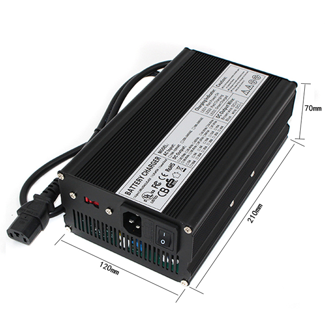 US $89 23 30% OFF|46 2V 11A Charger battery charger for 11S 40 7V Li ion  battery AGV car/forklifts etc-in Chargers from Consumer Electronics on