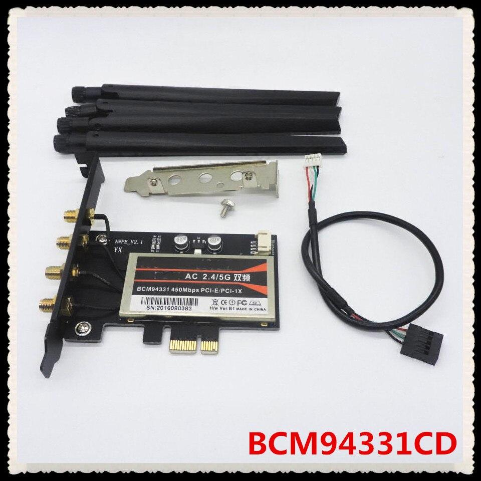 Broadcom BCM4360 BCM94360CD BCM94360CDAX + Mini PCIe адаптера 802 11AC  WI-FI WLAN +