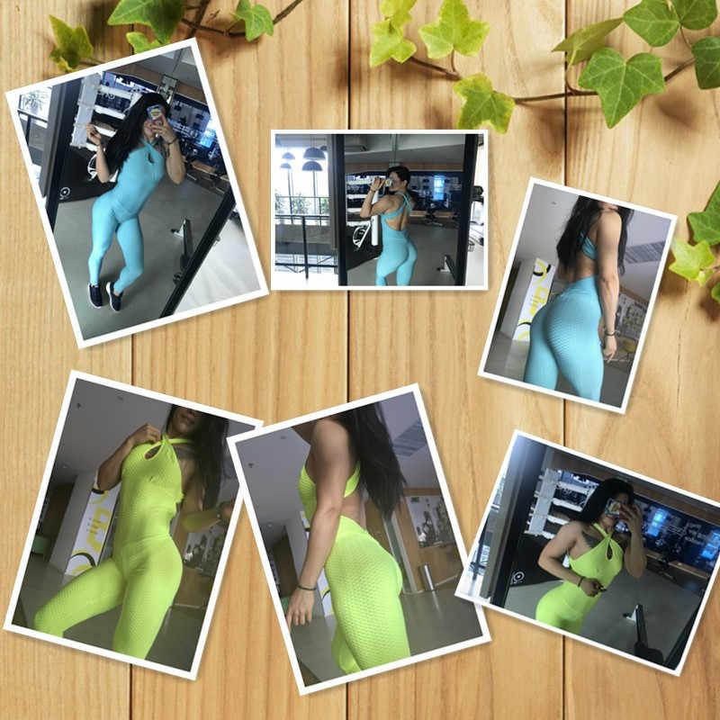Nuevo conjunto de Yoga para mujer, gimnasio, correr, deportes, traje negro, sin espalda, vendaje, ropa sin mangas para gimnasio, Ropa de baile, entrenamiento