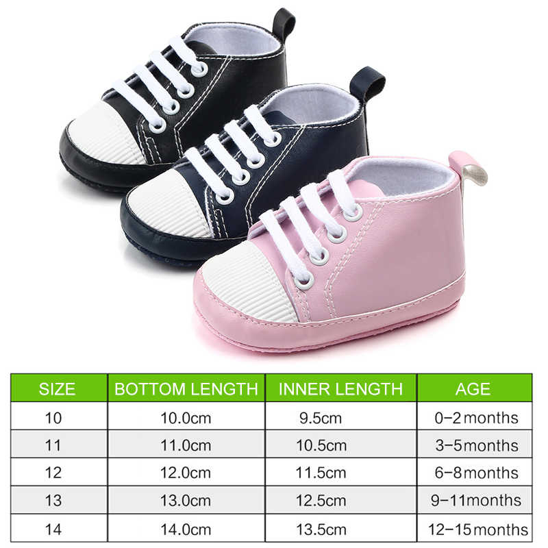 Giày cho bé Da PU Giày Tập Đi Cho Bé Thể Thao Nhân Quả Bé Sơ Sinh Bé Trai Bé Gái Màu Giày Trẻ Sơ Sinh Cho Bé Mềm Mại Chống giày chống trơn trượt