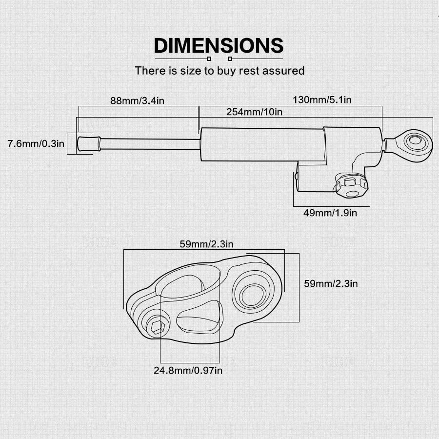 medium resolution of universal motorcycle damper steering stabilizer moto linear safety control for aprilia dorsoduro 750 120 mana 850