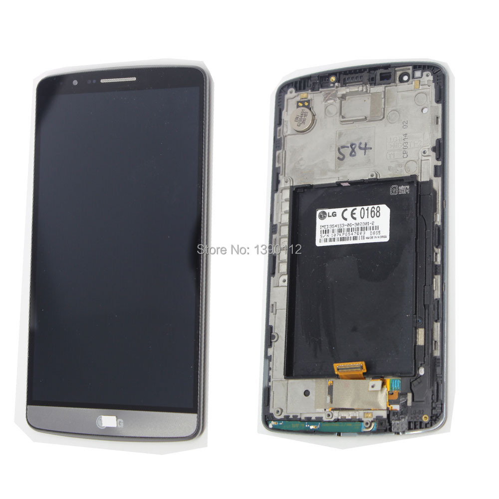 LCD +Touch Screen Digitizer for LG G3 D855 gray