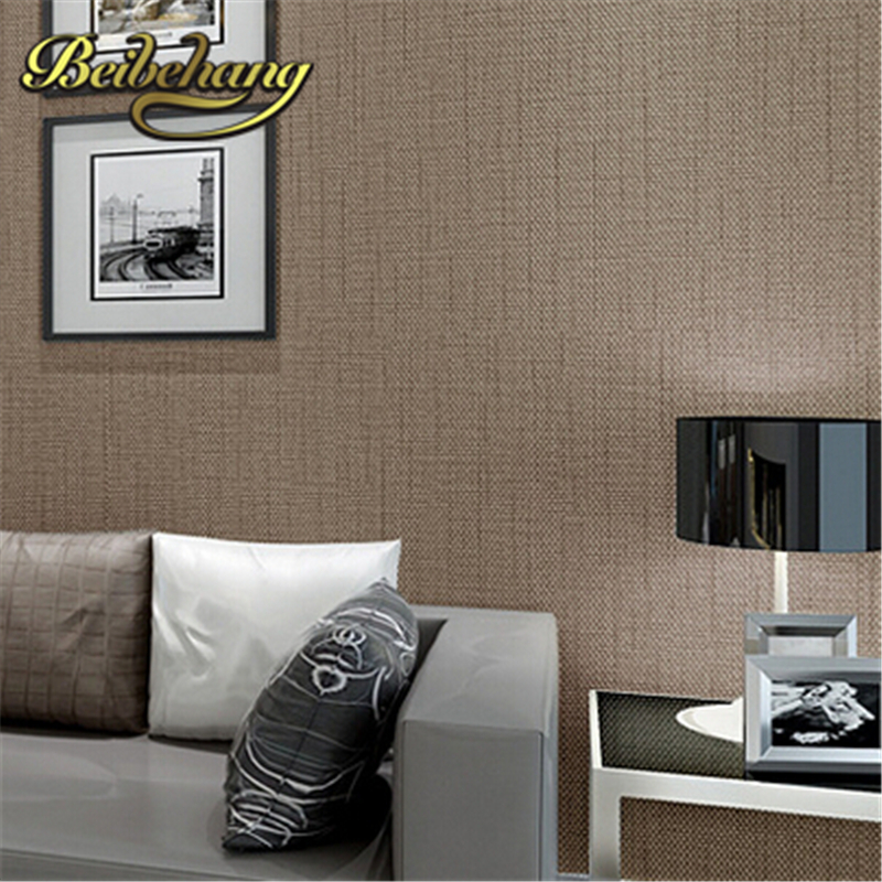 Buy beibehang papel de parede. Faux Grasscloth Modern Simple texture Wall Paper Bedroom and Office Wallpaper Roll Solid Color Beige,