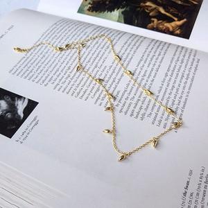 Image 5 - INZATT Echt 925 Sterling Silber Minimalis Wasser Drop Halskette Für Elegante Frauen Partei OL Feine Schmuck Geometrische Zubehör