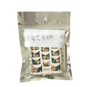 Image 5 - 44 sztuk naklejki do paznokci zestawy uroda urok DIY francuski porady wzór kwiatowy kalkomanie transferowe wody suwak do manicure polerowanie NJ003