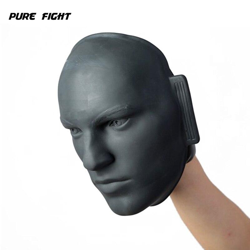 Gant de boxe visage factice en caoutchouc vif MMA Taekwondo Jab combat Sparring entraînement soulagement de la pression cible de poinçonnage