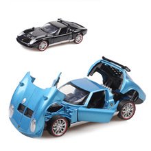 Hot Sell 1:32  Alloy Car Model Hood and Door Can Be Opened Sound Light Collection Brinquedos Pull Back Toy Boy