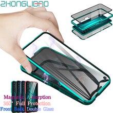Magnetische Metall Fall für Huawei P30 P20 Mate 20X10 Ehre 20 10 Pro Lite 8x 20i V20 Nova 5 5i 4e 3e P Smart Plus Z Y9 2019 Abdeckung