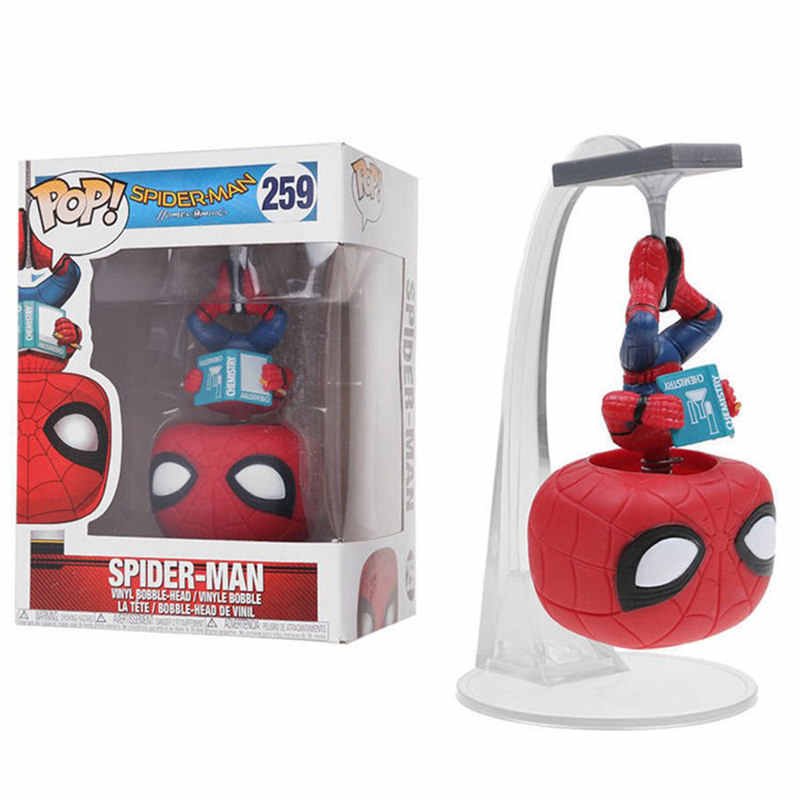 FUNKO POP Marvel Avengers Infinity War Spider-Man 259 # Action Figure Collection giocattoli di modello per I Bambini Regalo Di Natale con la scatola