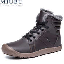 MIUBU New Roman Men Winter Boots Male Snow Ankle Waterproof Warm Fur Casual Boot Shoes Chaussure Homme Plus Size 36~48