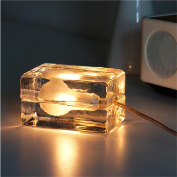 Creative Art Ice Brick Light Bulb