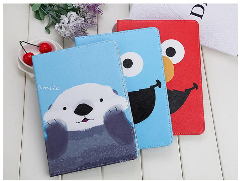 PU Leather Stand Case for iPad mini 4 case smart cover for iPad A1538 A1550 Sleep Wake Up Cartoon Big Mounth Bear free shipping sgl luxury ultra smart stand cover for ipad air 1 ipad5 case luxury pu leather cover with sleep wake up function for ipad air1