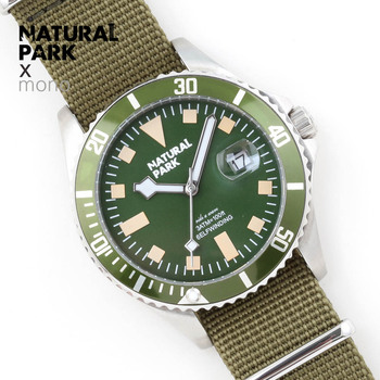 2018 New Fashion Mens Watches NATURAL PARK Militray Sport Quartz Men Watch Waterproof Male Wristwatches Relogio Masculino Gift