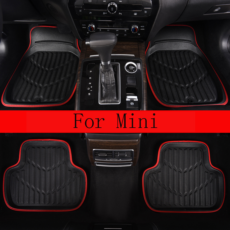 Universal Leather Car Floor Mats For Mini