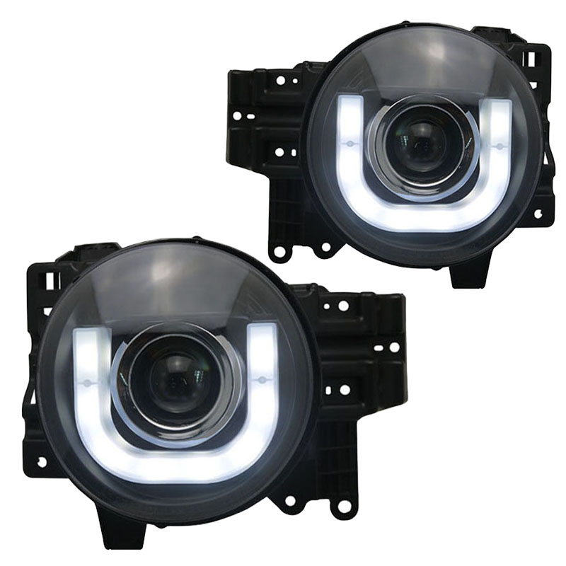 пороги toyota fj for Toyota FJ Cruiser LED Car Headlight Assembly 2007-up U style angel eye Modified Car lights Projector Lens