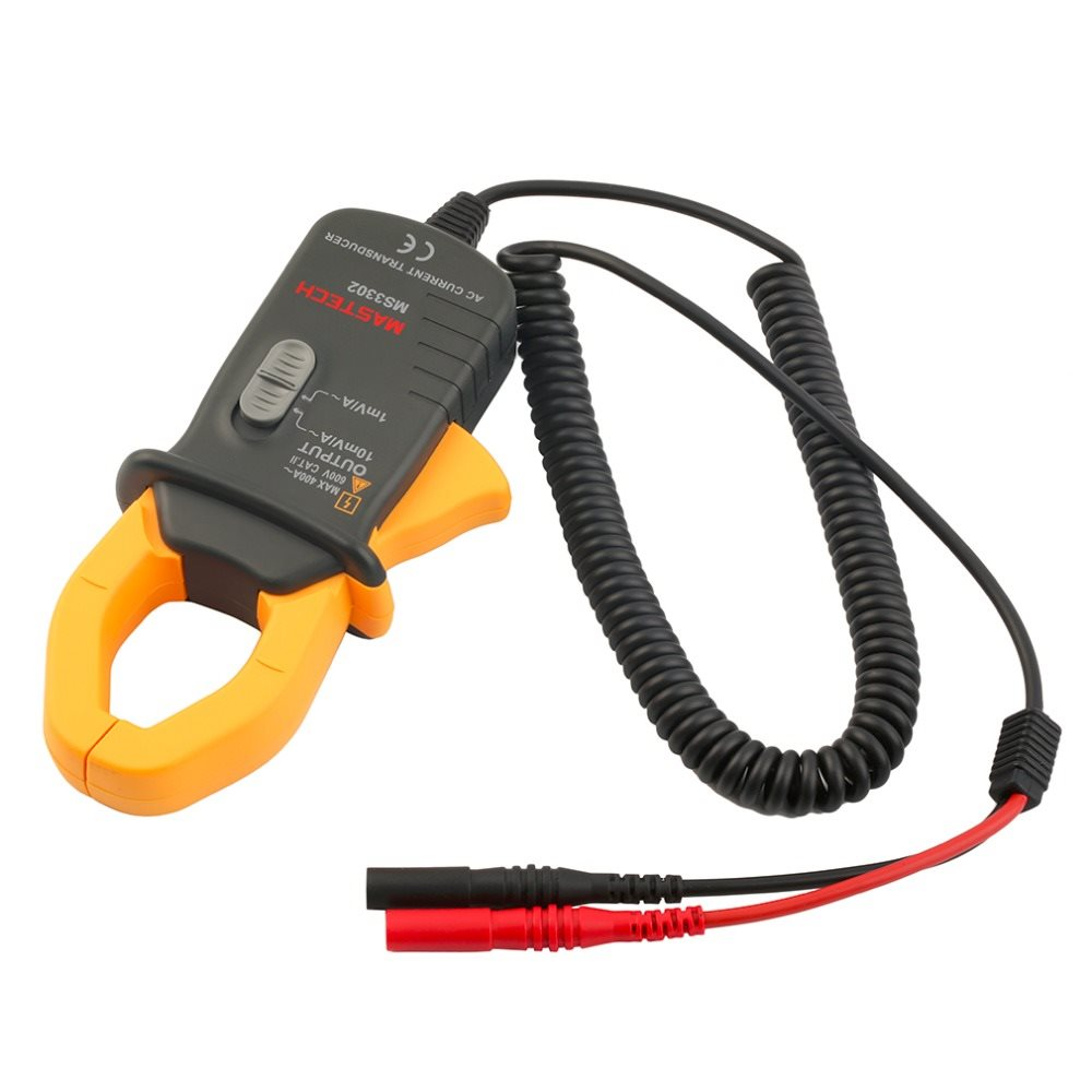 Latest MASTECH MS3302 AC Current 0.1A-400A Clamp Meter Transducer True RMS Current converter YQ7 mas tech pro mini mastech ms3302 ac current transducer 0 1a 400a clamp meter test hot sales