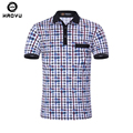Men Polo Brand Clothing Plaid Slim Polo Shirts High Quality Cotton Breathable Contrast Color Fashion Poloshirt Men Polo Hombre