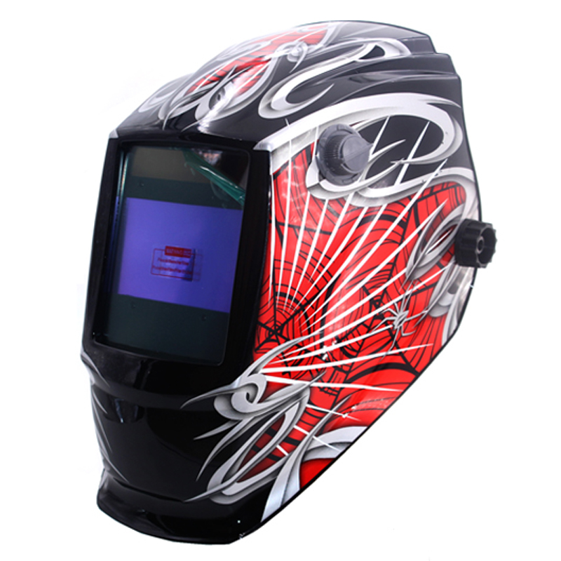 Spide Out Control Big View Eara 4 Arc Sensor Solar Auto Darkening TIG MIG MMA Welding Mask/Helmet/Welder Cap/Glasses/Face Mask din7 din12 shading area solar auto darkening welding helmet protection face mask welder cap for zx7 tig mig welding machine