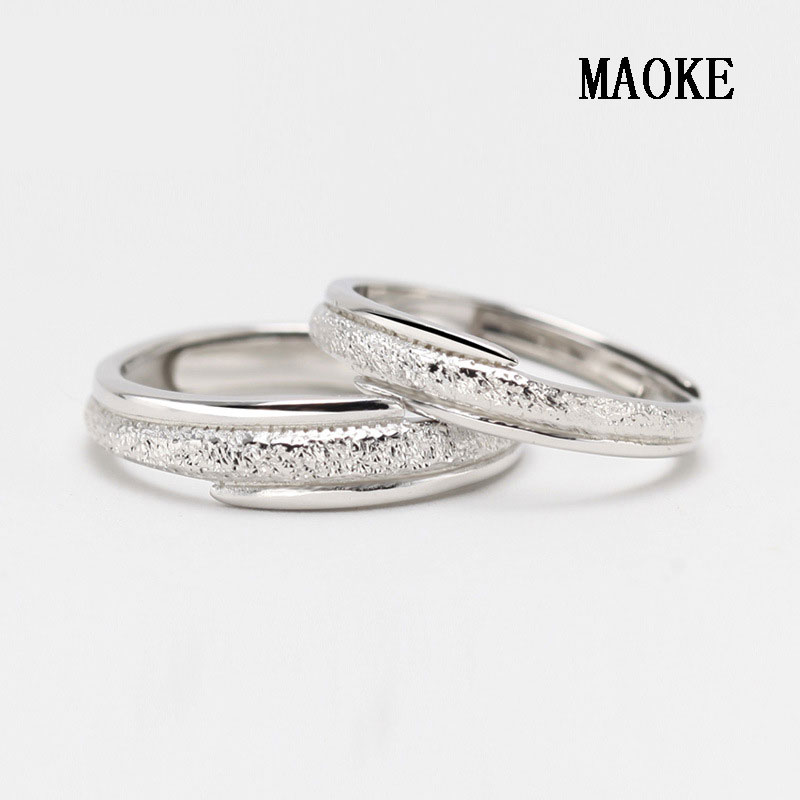 9ef5b7fc51d US $20.3 |Promotions S925 Sterling Silver Lovers Ring Nail Sand Blasting  Matte To Old Pair Fashion Jewelry for Women's Fashion Gifts-in Engagement  ...