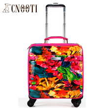 Casual light large capacity trolley travel bag new arrival picture package color,female lovely travel luggage sets,fashion bag