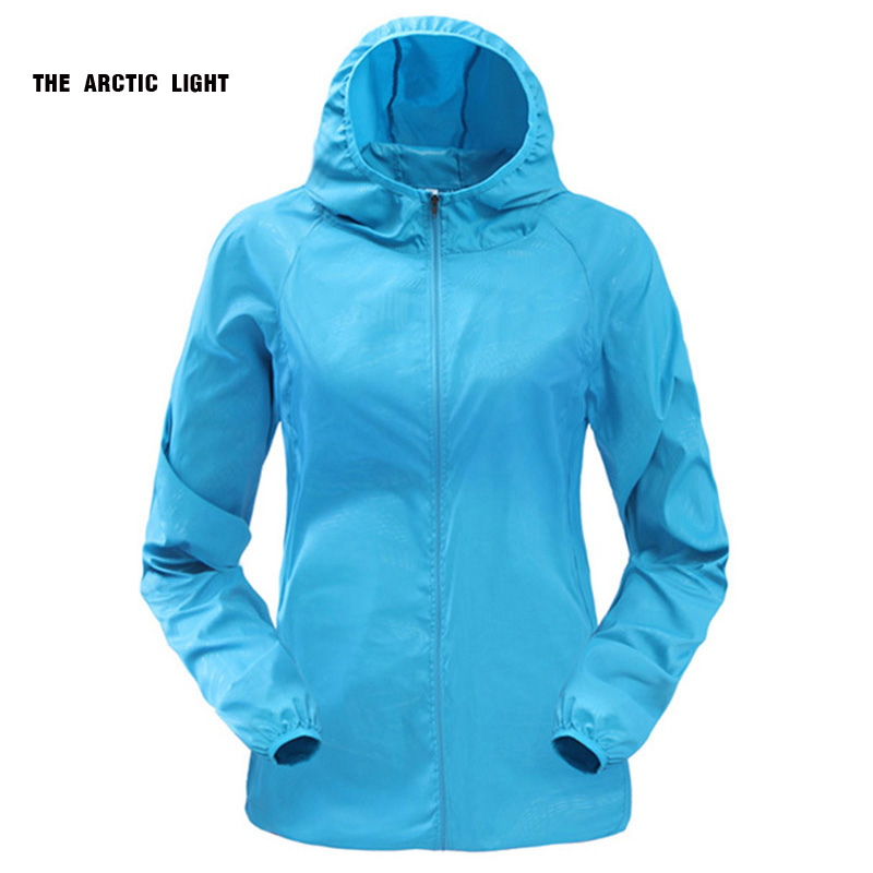 THE ARCTIC LIGHT Outdoor Menjalankan Camping Hiking Sepeda Sport Jacket Sun-Protect Ultralight Waterproof Jaket Rain Coat