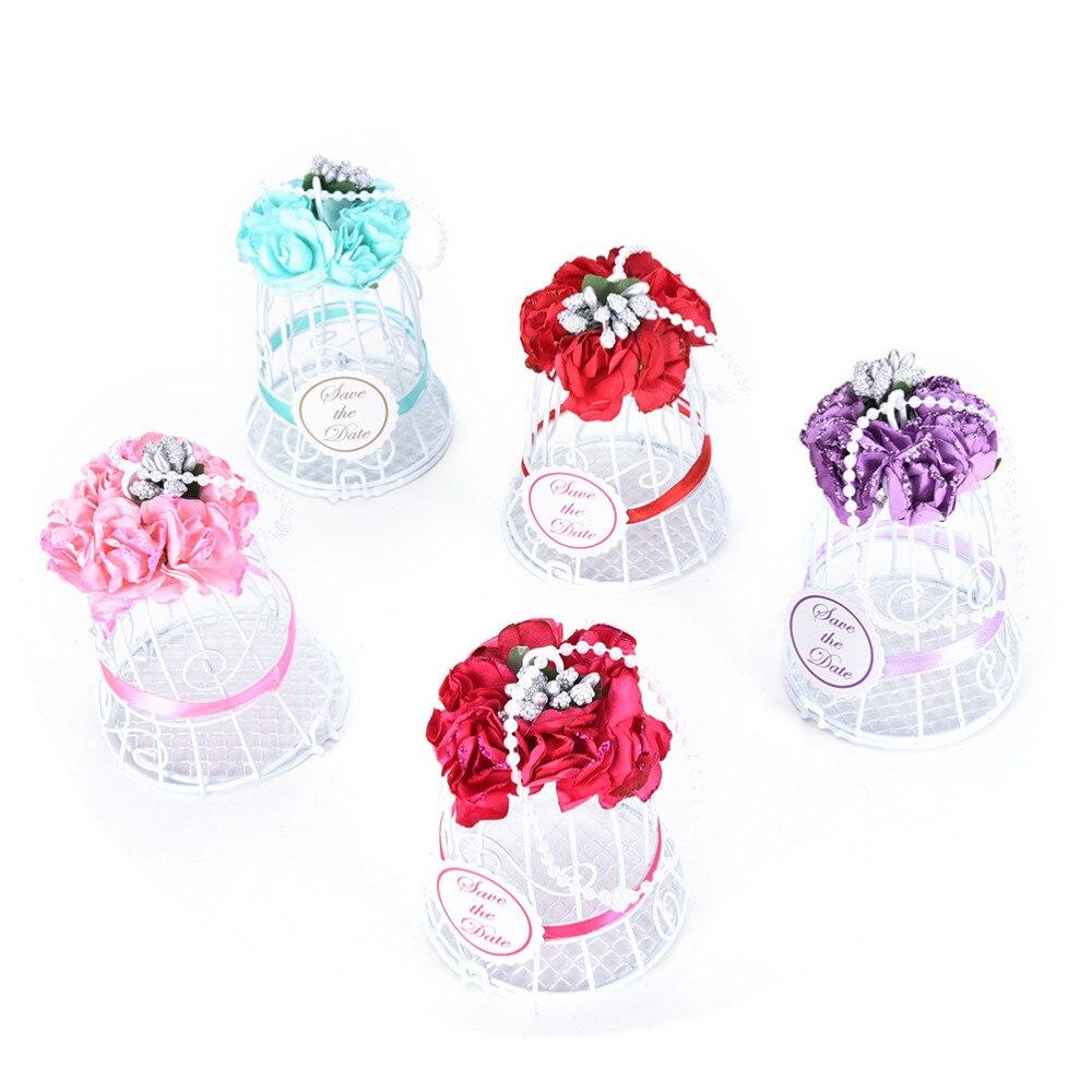 1 pcs European style wedding bells / candy box / White Iron candy ...