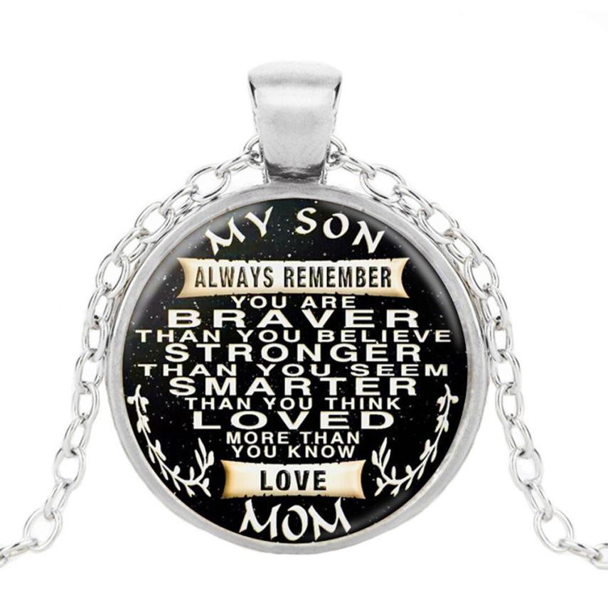 OTOKY Necklace Colar par To My Son Dog Tag Necklace Military Fathers Day Family Love Stainless Steel Jewelry necklace      jan08 пандора браслет с шармами