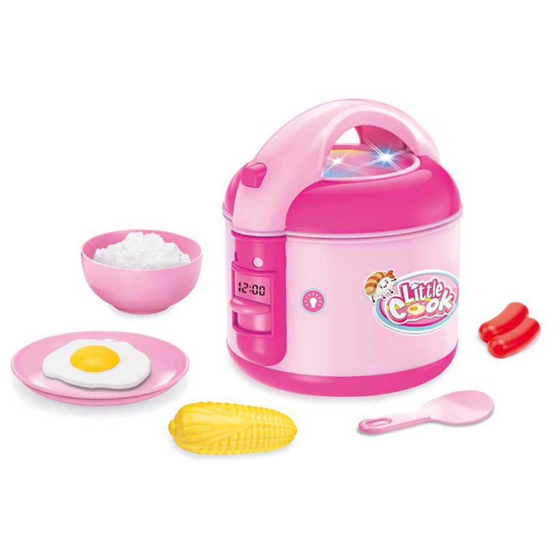 Детская электрическая плита ролевые игры изысканные блюда набор со светом и звуком дети игрушечный миксер игрушки