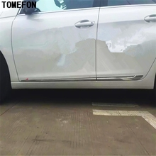 TOMEFON Авто Стайлинг ABS хром внешний корпус дверь боковое литье антицарапина ребра отделка для PEUGEOT 308 хэтчбек