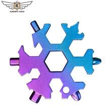 19 in 1 Multi-tool Mini Snowflake tool Combination portable tools Bicycle Skate