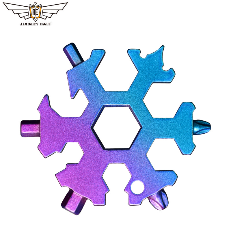 19 In 1 Multi-tool Mini Snowflake Tool Combination Portable Tools Bicycle Skate Outdoor Camping Hiking Equipment