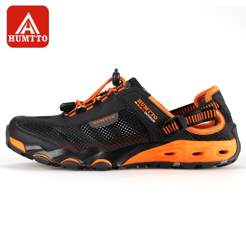 HUMTTO Men's Upstream Shoes Outdoor Trekking Wading Aqua Shoes Breathable Mesh Quick Drying Waterproof Sneakers Big Size