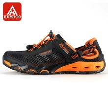 HUMTTO Men's Upstream Shoes Outdoor Trekking Wading Aqua Shoes Breathable Mesh Quick drying Waterproof Sneakers