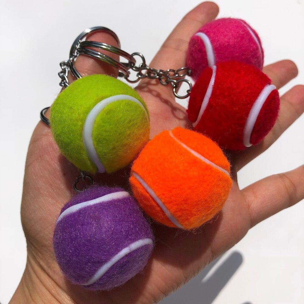 20 Pcs Resin Mini Tennis Balls Keychain,keyring Tennis Club Player Souvenir Gift Tennis Memento For Decoration