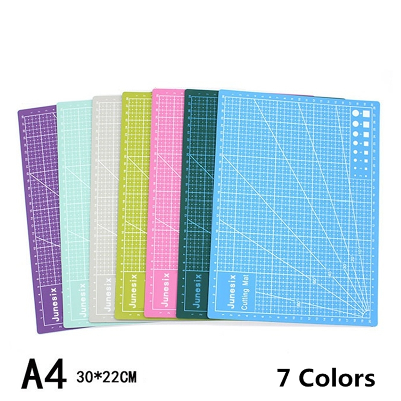 A4 PVC Color Double-sided Self-healing Soft Cutting Pad Patchwork Mat Artist Manual Sculpture DIY Tool Home Carving Board Supply