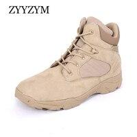 ZYYZYM Men Military Boots Leather Men Desert Boots Special Force Tactical Combat Low top Men Boots 511 Outdoor Boots Plus Size