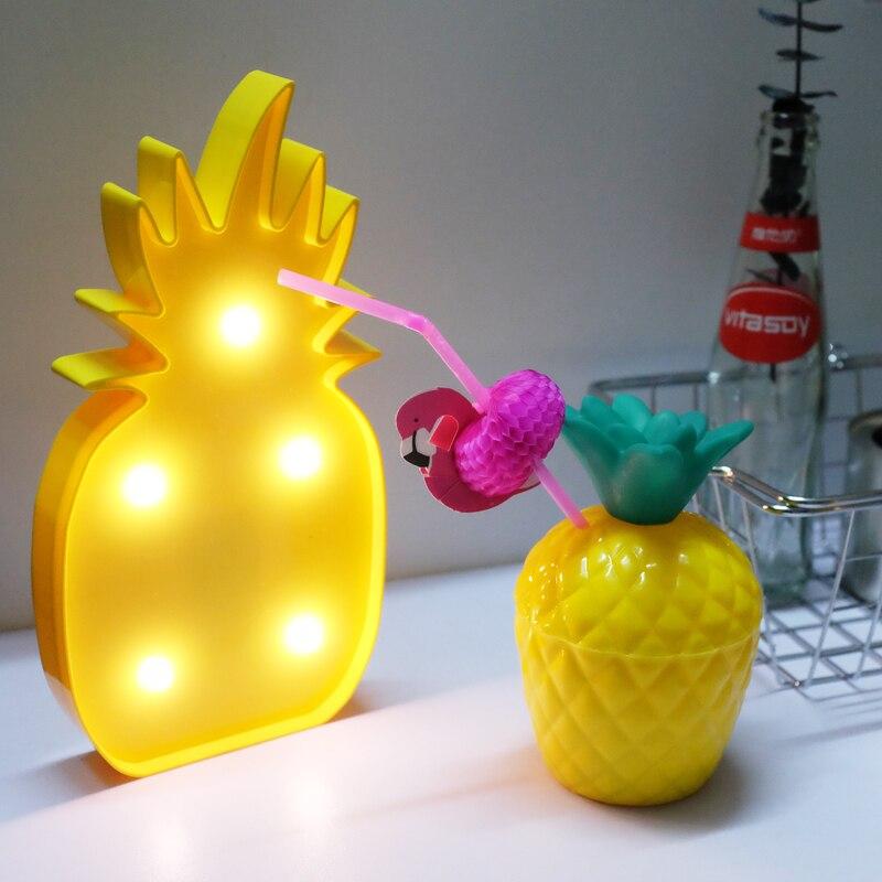 Jiaderui светодиодный Блеск ананас Night Light Home Аксессуары 3D шатер светодиодный письмо ночника для декора комнаты Освещение для детей подарок