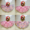 Fashion Baby Girls Kids Tutu Ballet Dancewear Skirts Girl's Cute Lovely Printing Floral Pleated Skirt