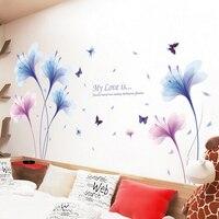Мечта орхидеи большие наклейки на стену цветочный Декор для дома гостиная художественные Переводные Обои Съемные